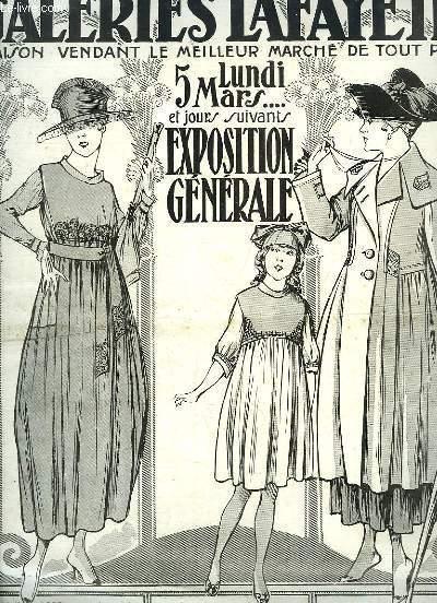Catalogue de l'Exposition Générale du Lundi 5 mars 1917