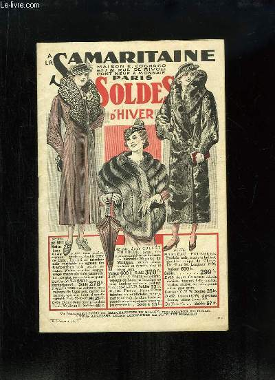 Catalogue des Soldes d'Hiver 1934, des Magasins