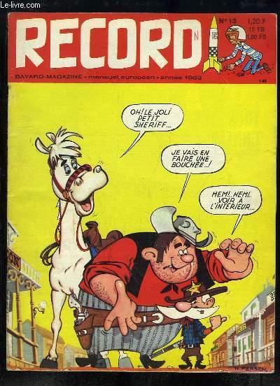 Record N°13 : L'Europe des Copains - Le Rugby - La guitare, c'est simple - Les nomades du Nord - Les faux pèlerins - Le cheveu de Vérina - Un voyage à la Martinique ...