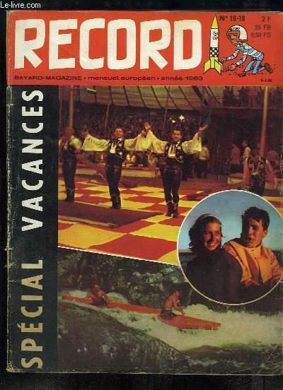 Record N°18 - 19 : Joies de l'Eau Vive - Le métro mystère - Bonnedague - A quoi servent les allumettes - Vacances sous tente - Inspecteur Saboum - Nuages ...