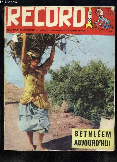 Record N°24 :  Bethléem aujourd'hui - Sous les igloos de Noisy-le-Grand - Noël à travers le Monde - L'ogre des neiges - Les Ours mendiants ...