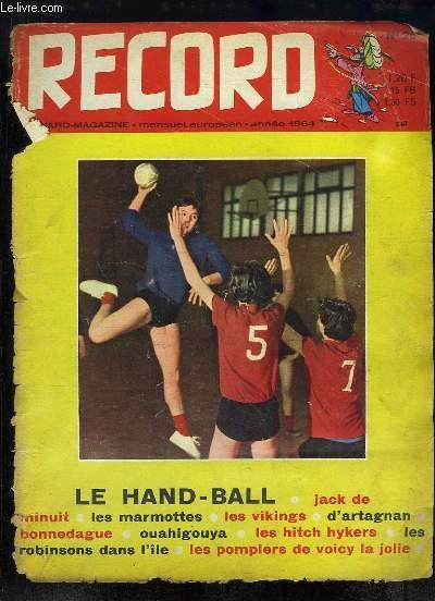 Record N°26 : D'Artagan (BD) - Hand-Ball - Ouahigouya - Les Vikings - Les marmottes - Les pompiers de Voicy-la-Jolie ...