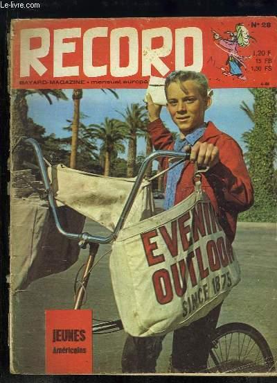 Record N°28 : Jeunes Américains - La fabrication d'un disque - Construisez un château ...