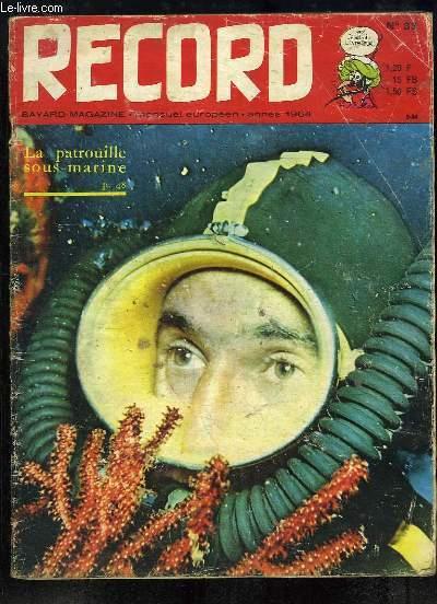 Record N°33 : La patrouille sous-marine - 86°13 latitude Nord - Pedro et les chevaux sauvages - Un ami nommé Kone Birante - Henrico Macias et sa chanson