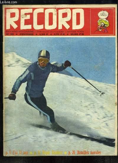 Record N°38 : Arion (BD) - Zef au Ski - Roger Couderc - A 15 ans elle entre dans l'Equipe de France de Ski - J'ai treize ans, j'habite l'Egypte - Indiens d'Aujourd'hui - Koumra ...