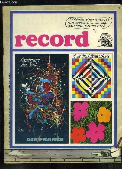 Record N°74 : J'ai 13 ans et j'habite la Jamaïque - En plongée sous la mer des Glénans - Ces affiches qui sont sur nos murs - Aldo Gruarin, le