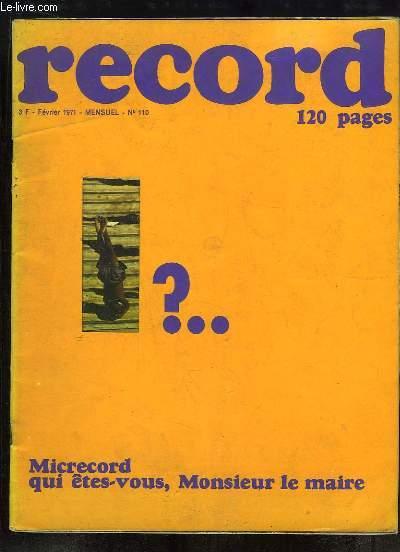 Record N°110 : Les