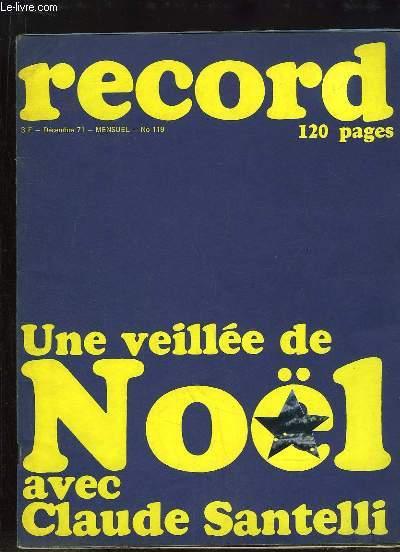 Record N°119 : Une Veillée de Noël avec Charles Santelli - Joan Baez, Alain Barrière, John Littleton, Michel Delpech et Noël - Le hockey ...