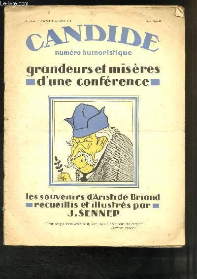 Candide N°319 Bis : Grandeurs et Misères d'une Conférence.