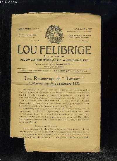 lou Felibrige N°58 - 2e annado : Lou Roumavage de