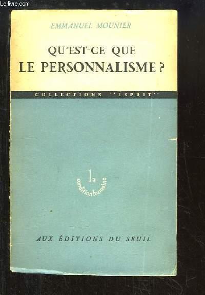 Qu'est-ce que le Personnalisme ?