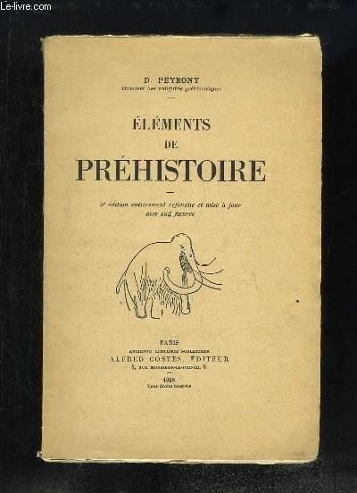 Eléments de Préhistoire.