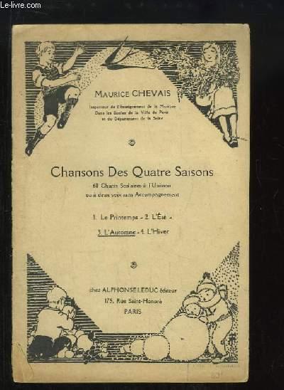 Chansons des Quatre Saisons. N°4 : L'Automne.