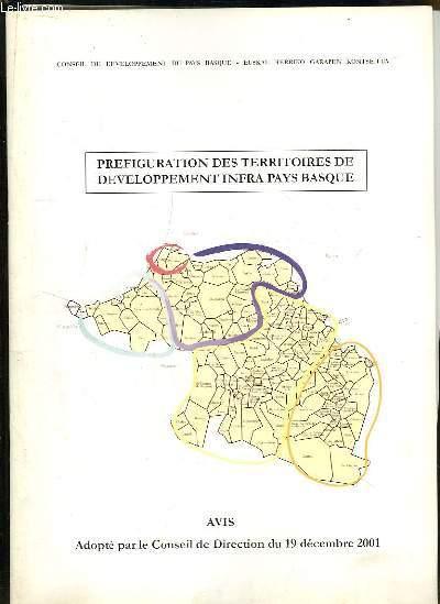 Préfiguration des Territoires de Développement Infra Pays Basque.