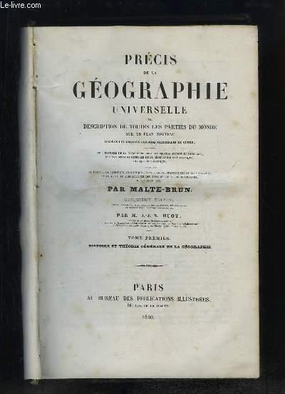 Précis de la Géographie Universelle. EN 6 TOMES, sans l'Atlas.