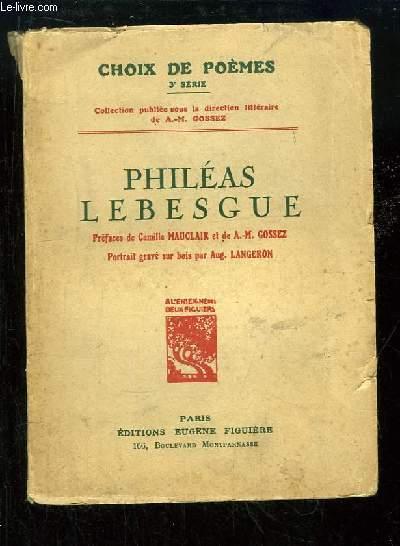 Philéas Lebesgue, Choix de Poèmes. 3ème série.