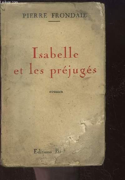 Isabelle et les Préjugés. Roman.