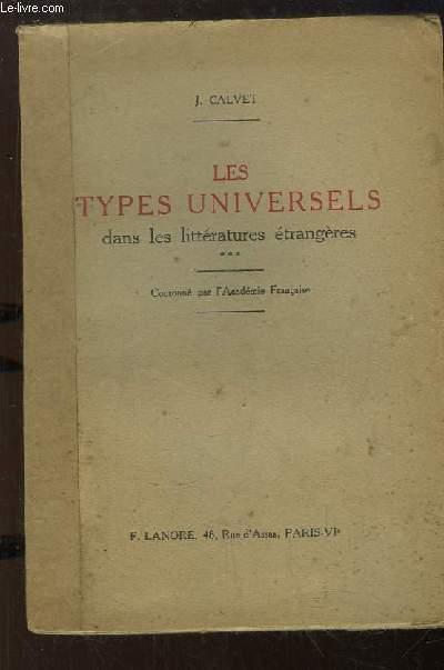 Les Types Universels dans les littératures étrangères.