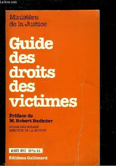 Guide des droits des victimes.