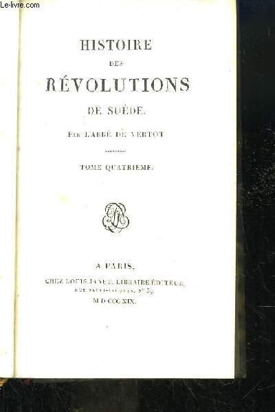 Histoire des Révolutions de Suède.