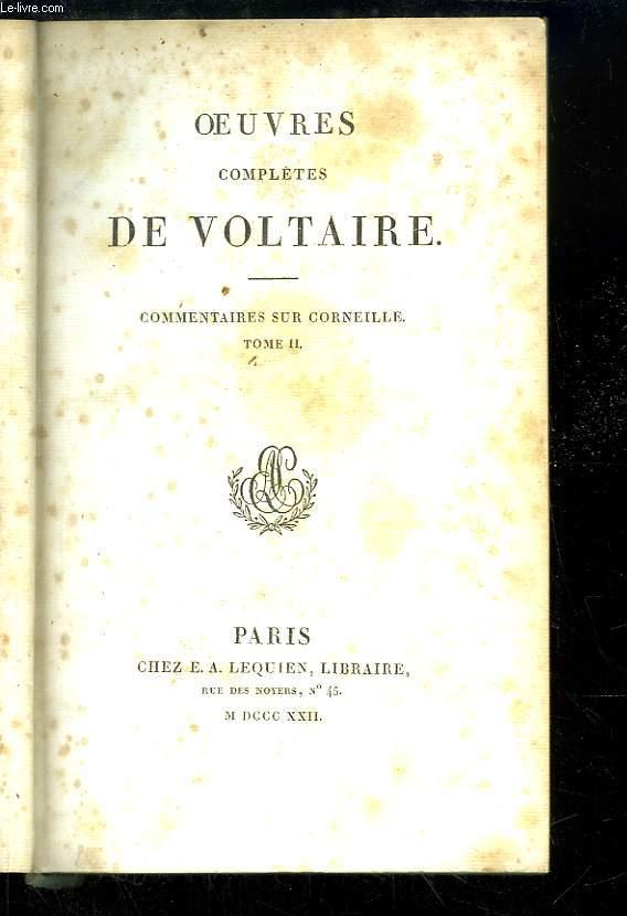 Oeuvres complètes de Voltaire. TOME 49 : Commentaires sur Corneille, Tome 2