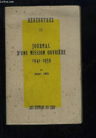 Journal d'une mission ouvrière, 1941 - 1959