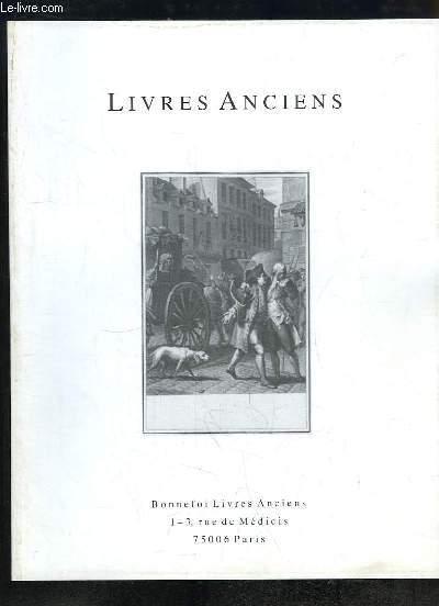 Catalogue N°120 de la Librairie Bonnefoi, de Livres Anciens