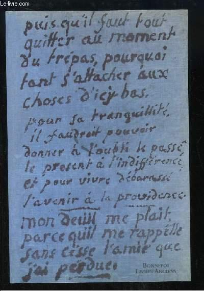Catalogue n°130 de la Librairie Bonnefoi, de Souvenirs Intimes, Mémoire Populaire (Manuscrits, correspondances).