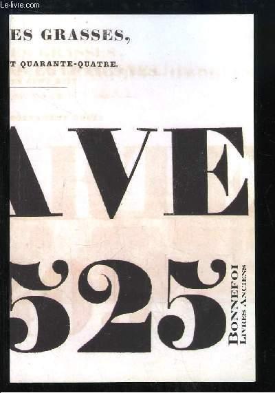 Catalogue n°126 de la Librairie Bonnefoi, de Livres rares et Manuscrits.