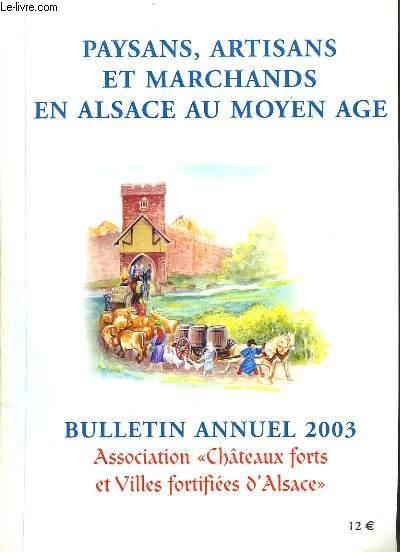 Paysans, Artisans et Marchands en Alsace au Moyen Âge.