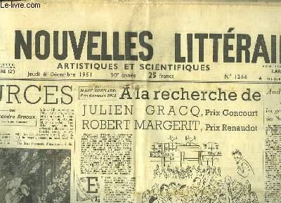 Les Nouvelles Littéraires, Artistiques et Scientifiques. N°1266 - 30e année : A la recherche de Julien Gracq et de Robert Margerit - quand j'étais Roi me dit le Duc de Windsor - Comment avez-vous manqué le Goncourt ?