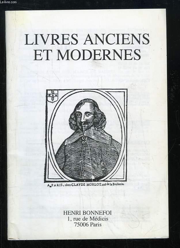 Catalogue n°43 de Livres Anciens et Modernes, de la Librairie