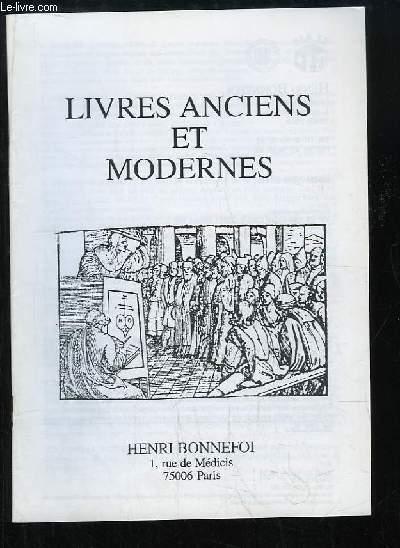 Catalogue n°46 de Livres Anciens et Modernes, de la Librairie