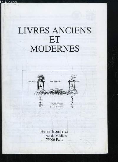 Catalogue n°47 de Livres Anciens et Modernes, de la Librairie