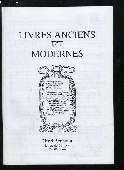 Catalogue n°48 de Livres Anciens et Modernes, de la Librairie