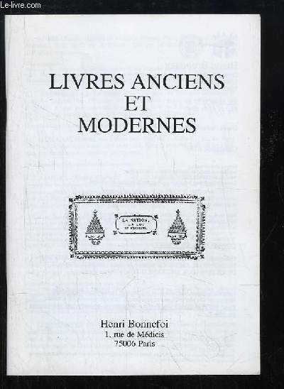 Catalogue n°49 de Livres Anciens et Modernes, de la Librairie