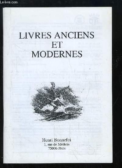 Catalogue n°52 de Livres Anciens et Modernes, de la Librairie