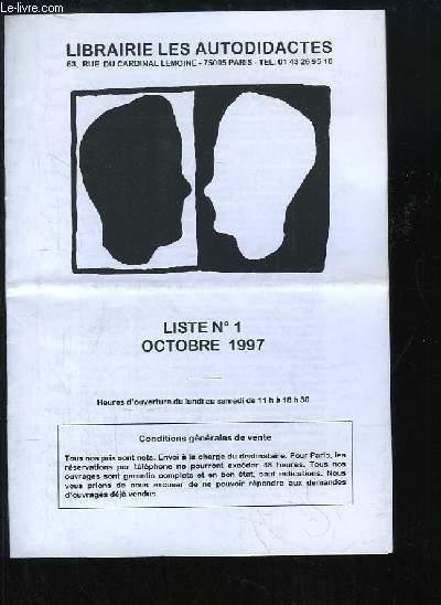 Liste N°1 - Octobre 1997
