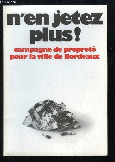 Brochure de Campagne de propreté pour la ville de Bordeaux
