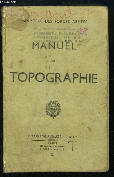 Manuel de Topographie.