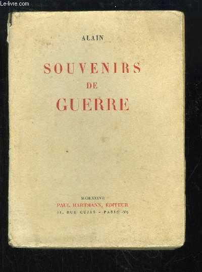 Souvenirs de Guerre.