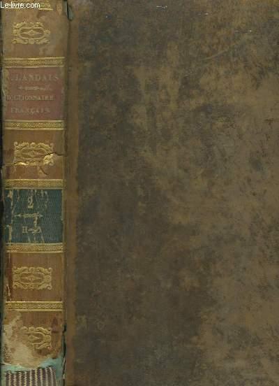 Dictionnaire général et grammatical, des dictionnaires français. TOME 2nd : H - Z