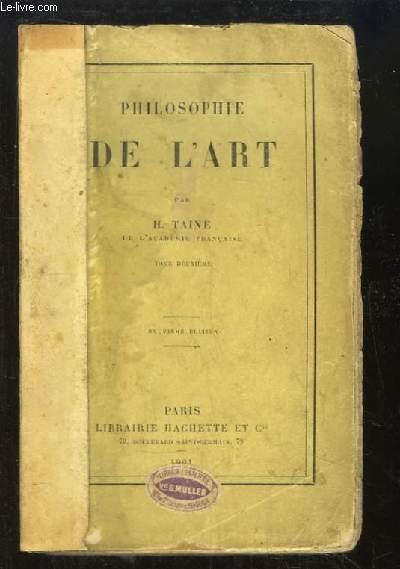 Philosophie de l'Art. TOME 2