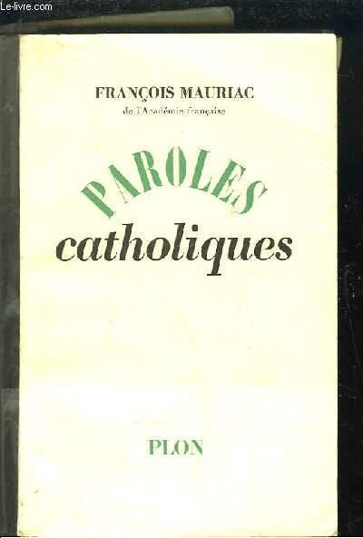 Paroles catholiques.