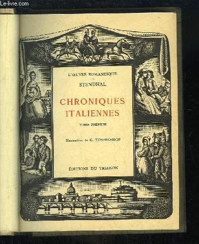 Chroniques Italiennes. TOME 1er : L'Abbesse de Castro - Vittoria Accoramboni - Les Cenci.