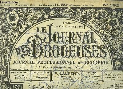 Le Journal des Brodeuses N°192 - 9e année : Bavoir - Coussin - Service à Thé - Chemise Empire - Dessous de compotier - Abat-jour tambourin ...