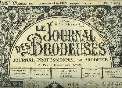 Le Journal des Brodeuses N°193 - 9e année : Centre de buffet - Chemise de jour - Enveloppe de linge de nuit - Enveloppe de serviette ....