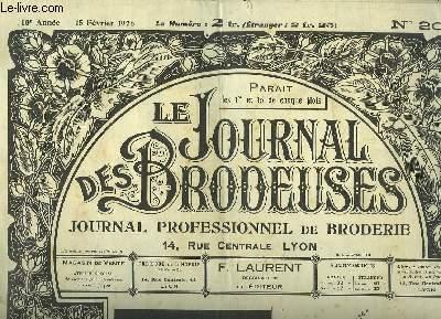 Le Journal des Brodeuses N°203 - 10e année : Store - Chemise de fillette - Pantalon - Pochette - Pale - Ancre - Chemise empire ...