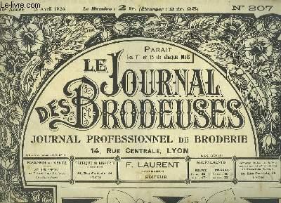 Le Journal des Brodeuses N°207 - 10e année : Devant de cheminée - Aube - Garniture de brassard - Drap - Taie - Chemise de jour - Napperon ...