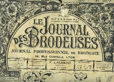 Le Journal des Brodeuses N°217 - 10e année : Enveloppe de linge de nuit - Drap - Taie d'oreiller - Plafonnier ...